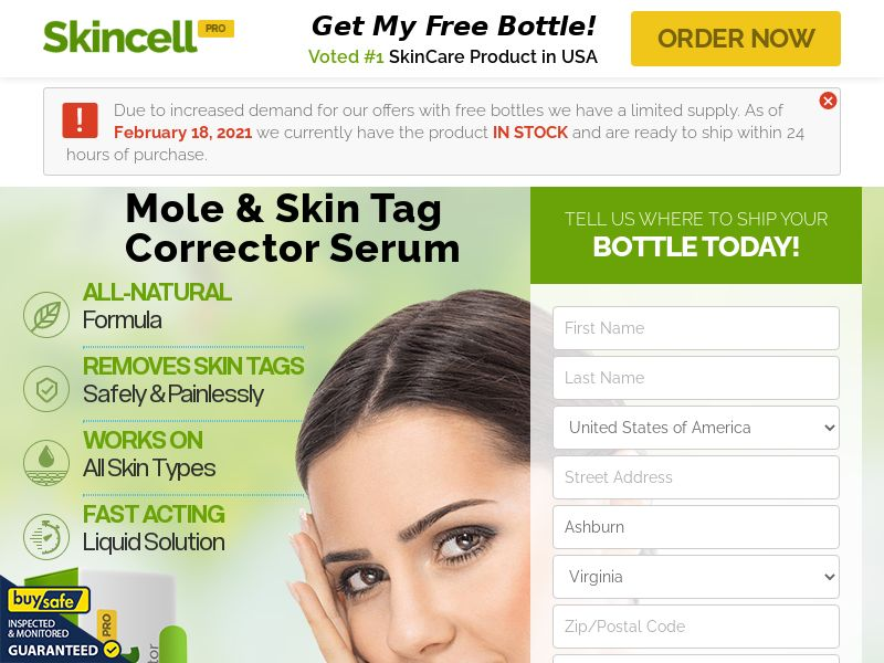 Skincell Pro Skin Tag Remove [US,CA,UK,IE] (Native,Social,Search,PPC,SEO) - CPA {NoBB}