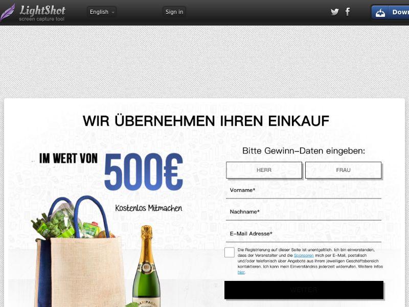 WIN €500 ALDI, REWE OR PENNY DE SOI (WEB) Non Incent