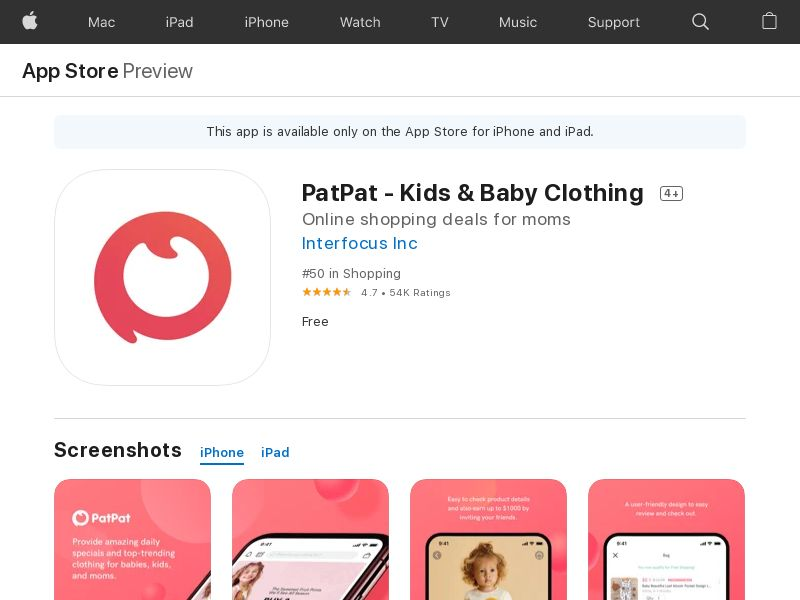 FR/DE/ES/IT-iOS-PatPat - Kids & Baby Clothing - NL(Orders)(Direct)