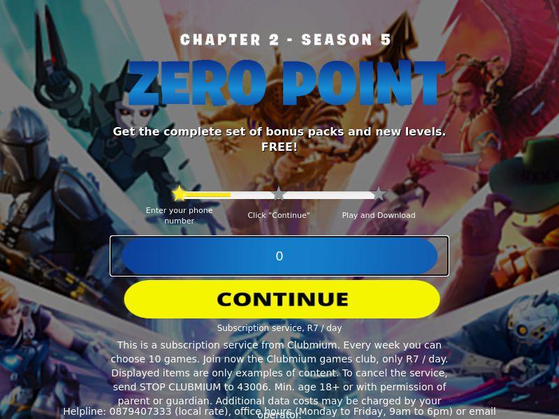 ZA - Fortnite Zero Point MTN