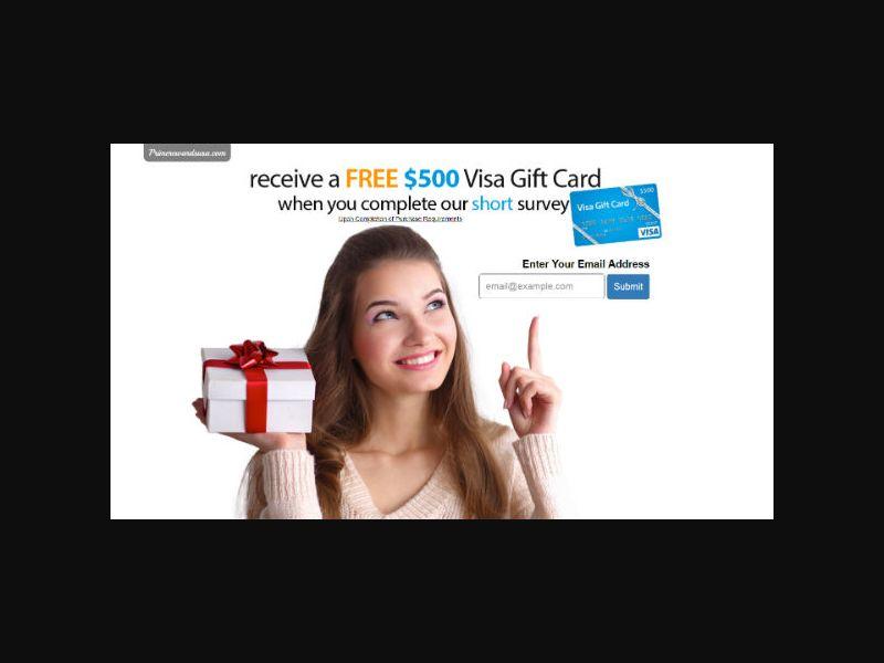 $500 Visa Gift Card (US)