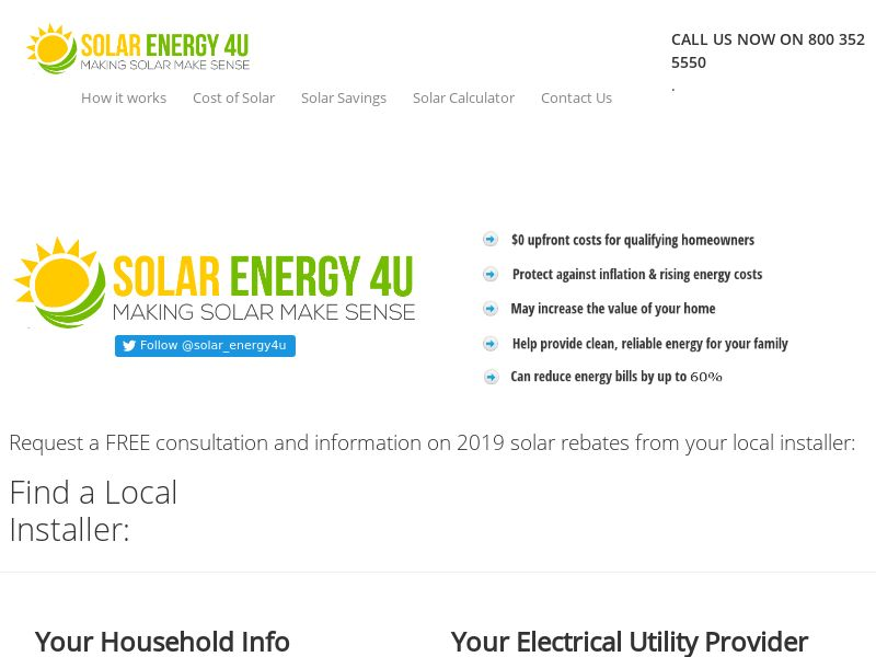 Solar Energy 4U - US (STATE TARGETED)