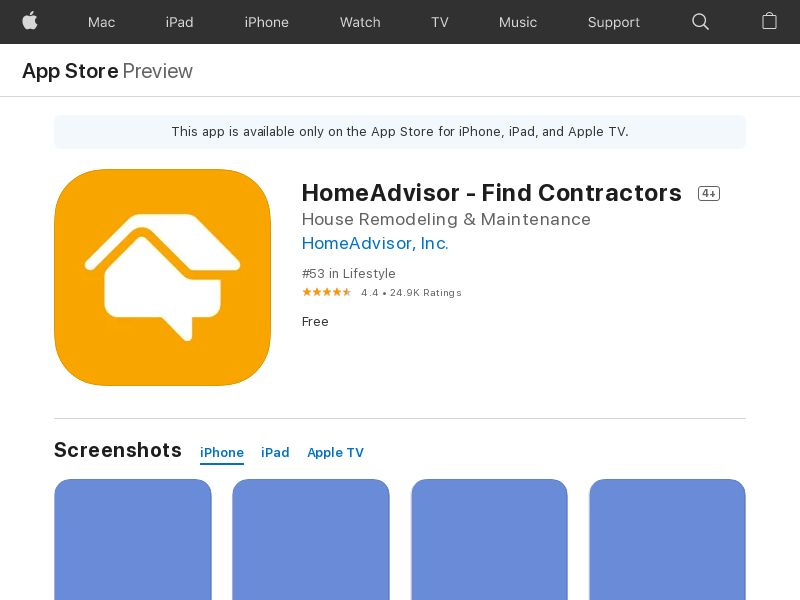 Homeadvisor iOS US IDFA