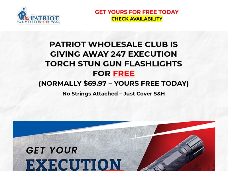 Free Execution Torch Stun Gun [US] (Email,Social,Banner,Native,Push,SEO,Search) - CPA
