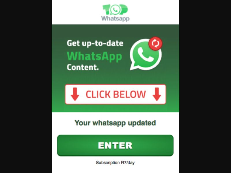 Top Whatsapp - 2 click - ZA - MTN - Other - Mobile