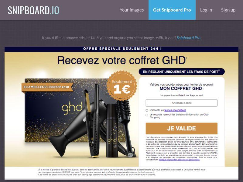 ClubShopping - GHD Hair FR/BE - CC Submit