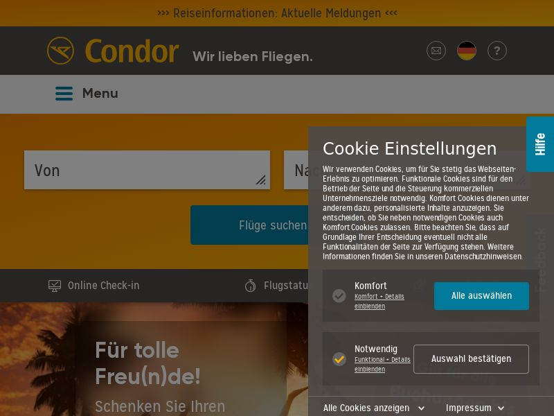 Condor - DE (DE), [CPS], Transport and Travel, Transport, Sell, holiday