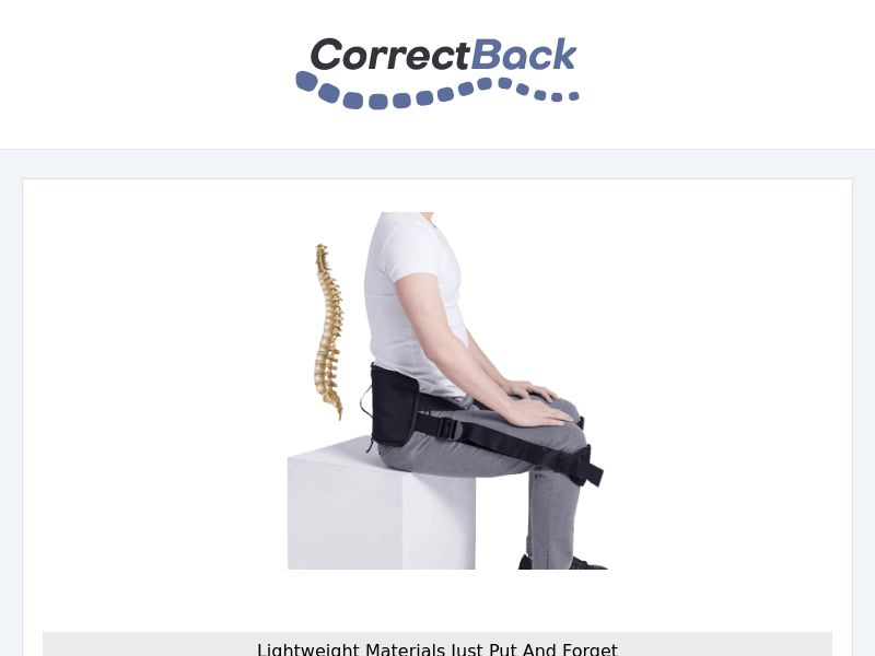 CorrectBack- Posture Correction - CPA - [INTERNATIONAL]