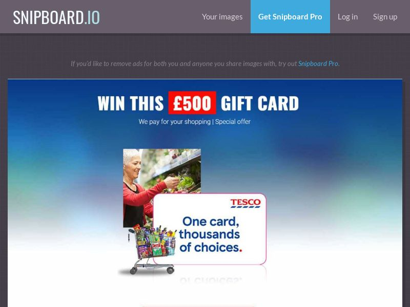 Tesco Gift Card - UK