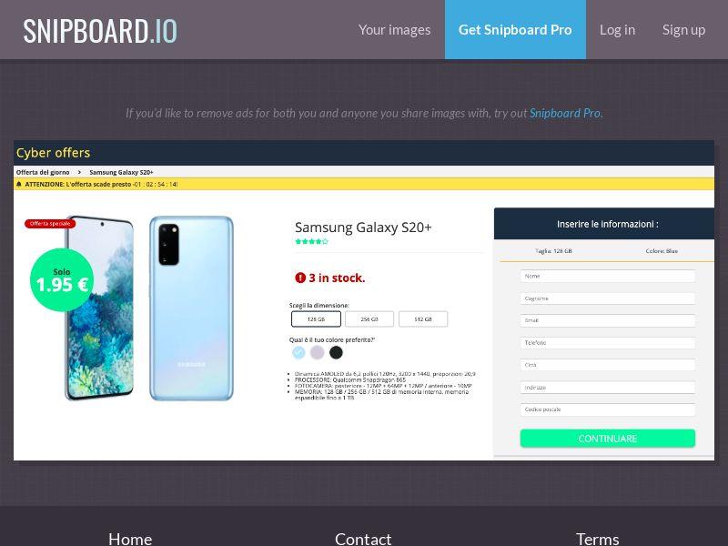 37671 - IT - G33K Premium - Samsung Galaxy S20 (Amazon) - CC submit