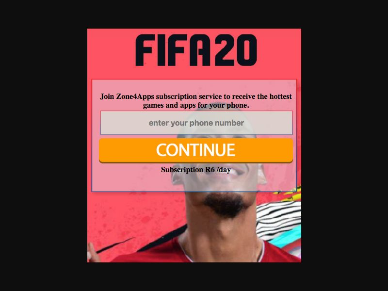 Fifa 2020 - SMS Flow - ZA - CellC - Online Games - Mobile
