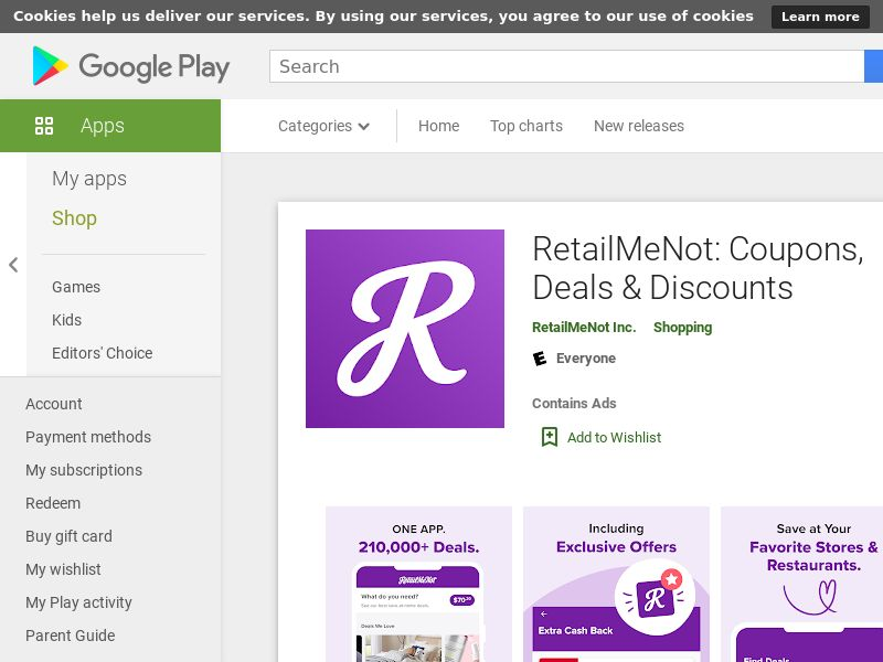 RetailMeNot Android - US