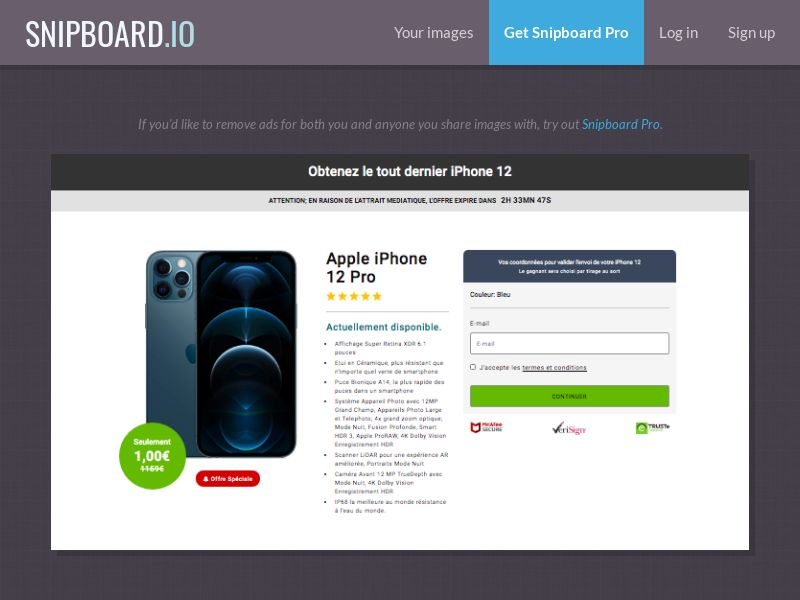 BundleShopping - iPhone 12 Pro v2 FR/BE - CC Submit