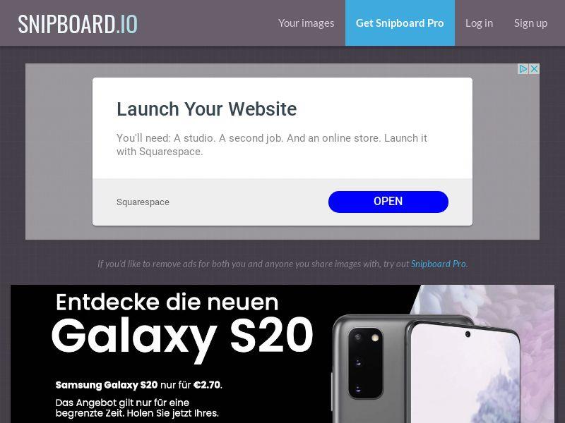SteadyBusiness - Samsung Galaxy S20 LP43 DE - CC Submit