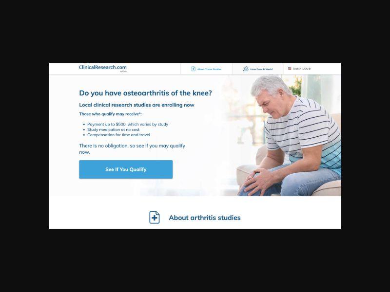 Osteoarthritis Of the Knee Study (US) CPL
