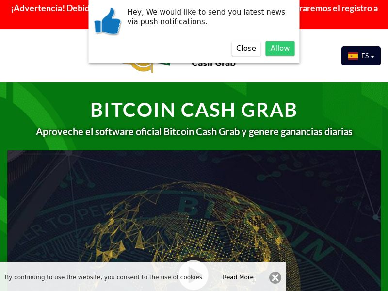 Bitcoin Cash Grab Spanish 1888