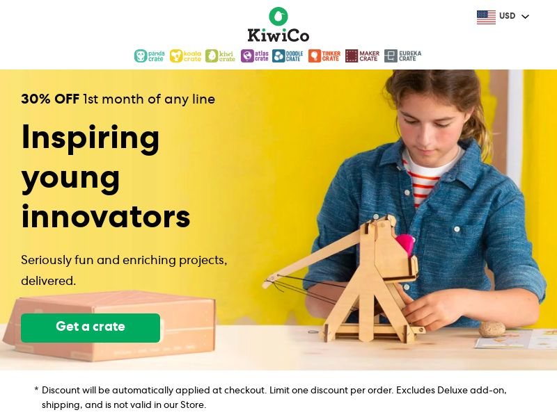 KiwiCo - Inspire Young Innovators with Projects! 30% OFF | US