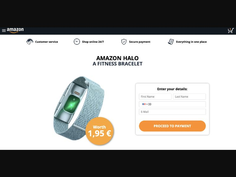 Amazon Halo Fitness Bracelet - CC - FR (FR), [CPA], Lotteries and Contests, Credit Card Submit, paypal, survey, gift, gift card, free, amazon