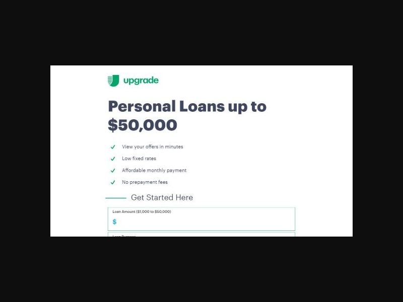 Upgrade Personal Loans - Issued Loans (US)