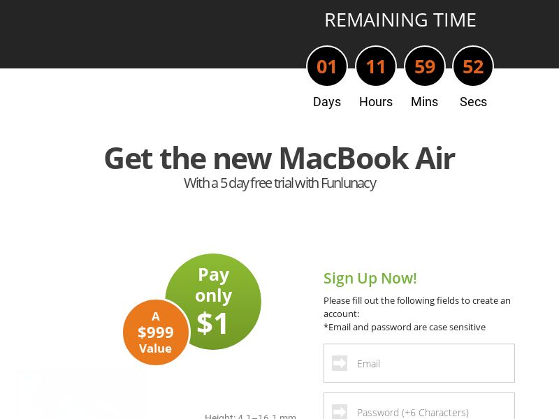 AdCenter Sweepstakes (MacBook Air) - CPA, CC Submit, Multi-Geo