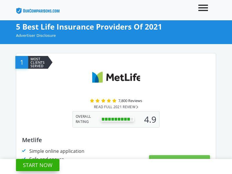 US - Ourcomparisons.com - 5 Best Life Insurance Providers - SOI - Schedule: 9am-9pm EST
