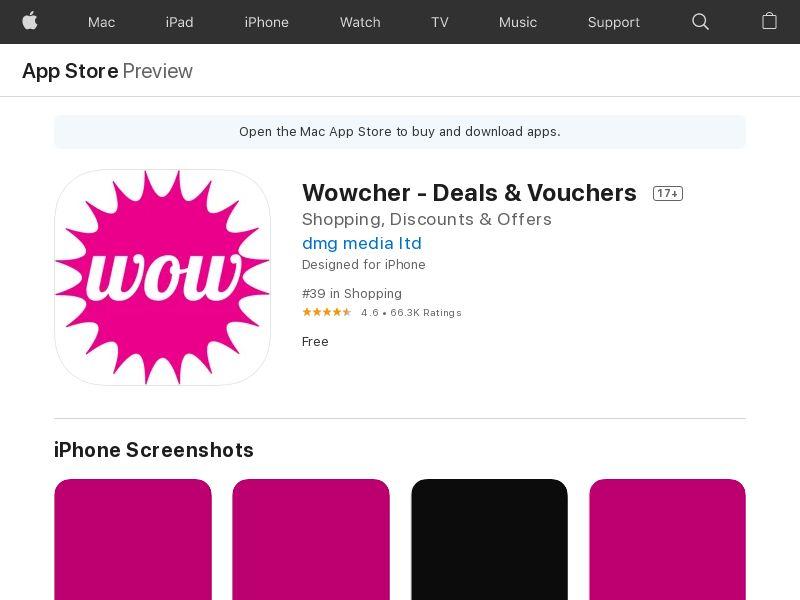 Wowcher IOS UK