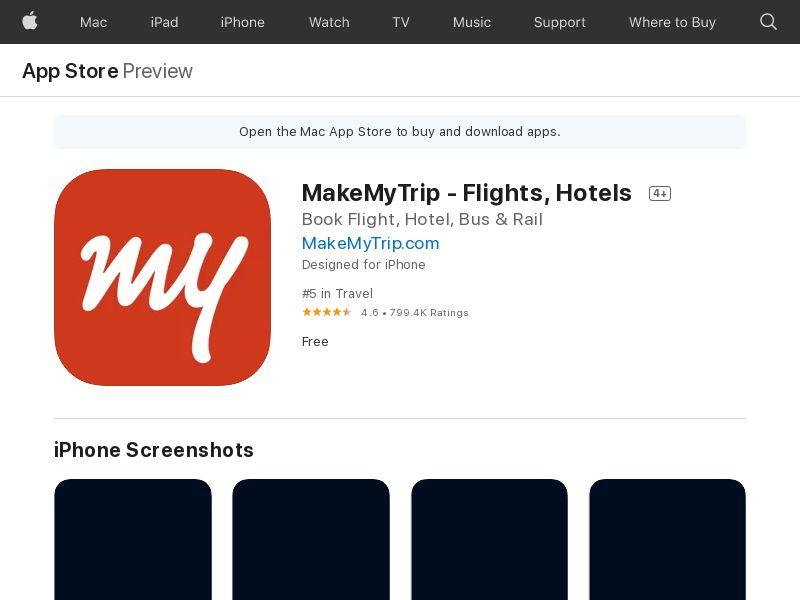 MakeMyTrip_UAE_ iOS (manual) (CPE=flight or hotel booking)