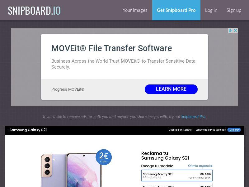 40233 - ES - AmazingWelcome - Claim Your Samsung Galaxy S21 - CC submit