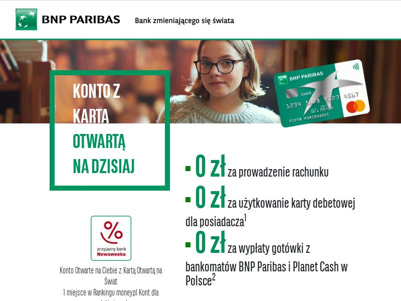 BNP PARIBAS - Konto Otwarte na Ciebie (PL), [CPA], Business, Account, Personal account, Open bank account, bank, finance