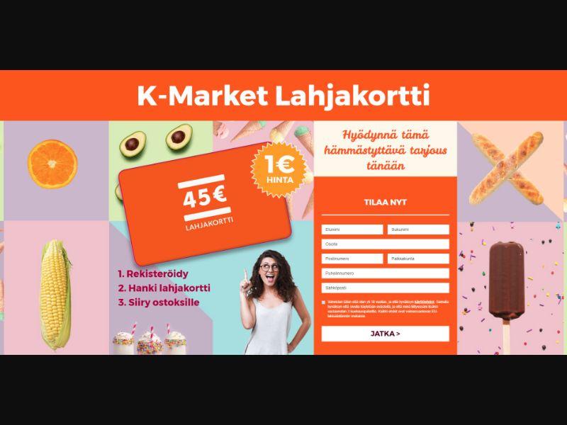Finland (FI) - PointWorld - K-Market Gift Card (Responsive)