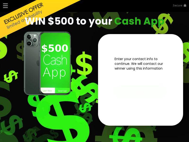 YOUSWEEPS - $500 Cash.App