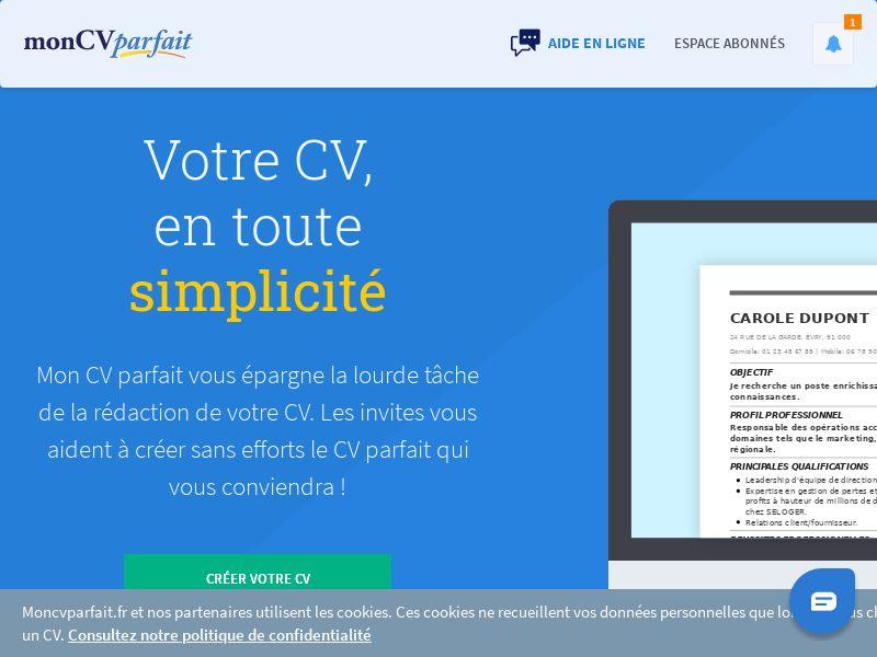 moncvparfait.fr - FR