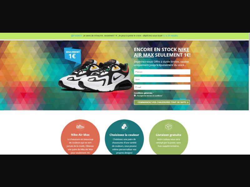 Nike Air Max - Sweepstakes & Surveys - Trial - [FR]