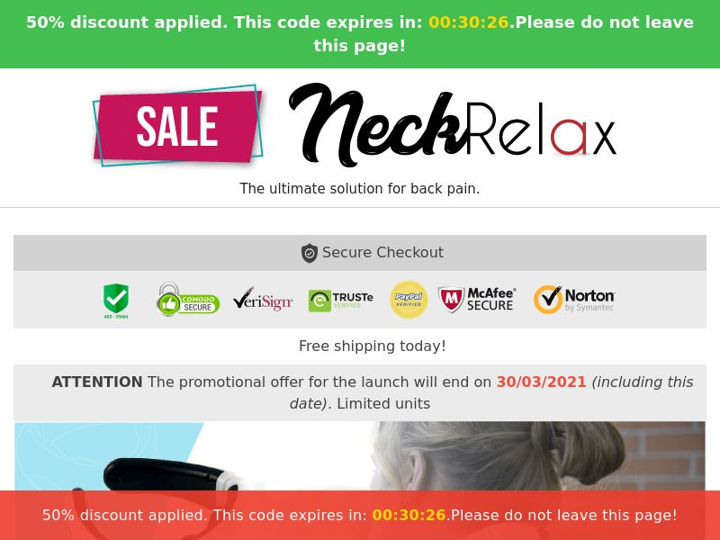 Neck Relax PRO (PPS) - eCommerce - WW