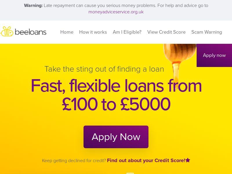 UK | Beeloans Short Term Loan - RevShare