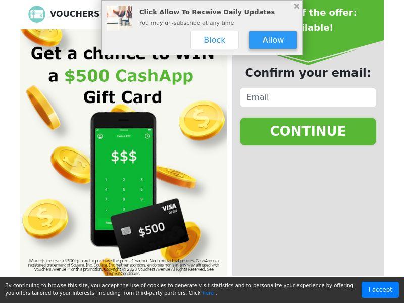 US - TM - CashApp Gift Card - CPL - SOI - *WEB/WAP*