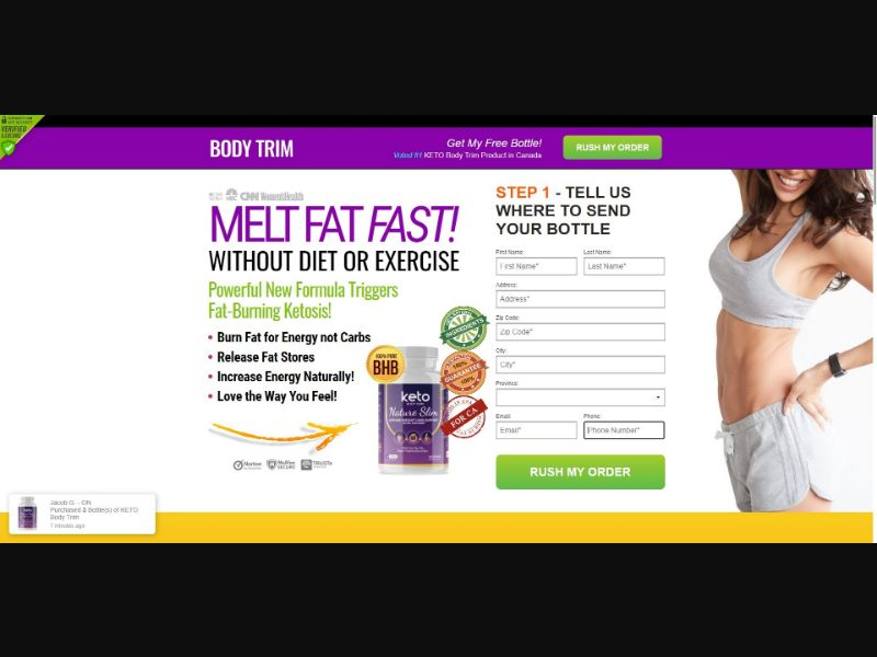 Keto Body Trim Nature Slim - Diet & Weight Loss - SS - NO SEO - [CA]