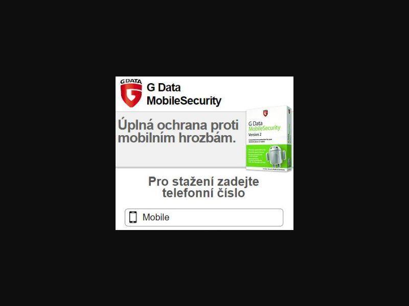 G Data Security - O2 , T-MOBILE , VODAFONE - CZ