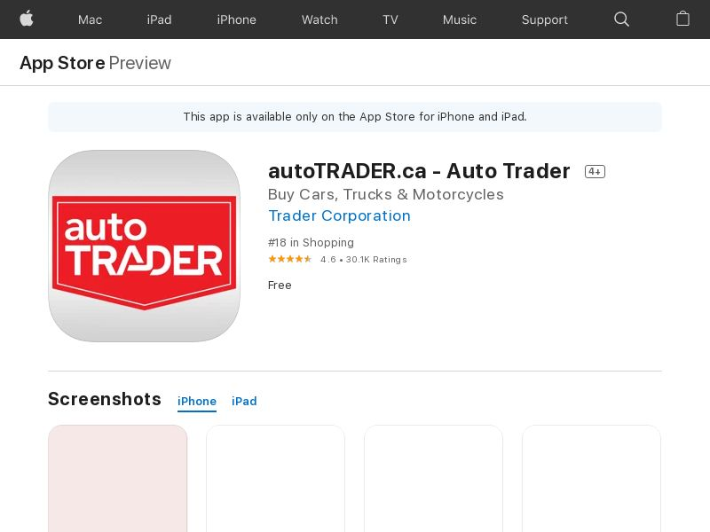 MB   Autotrader Native_iOS_CA_CPI (Geo Targeting) CPI M2072 * PENDING * Private Offer *