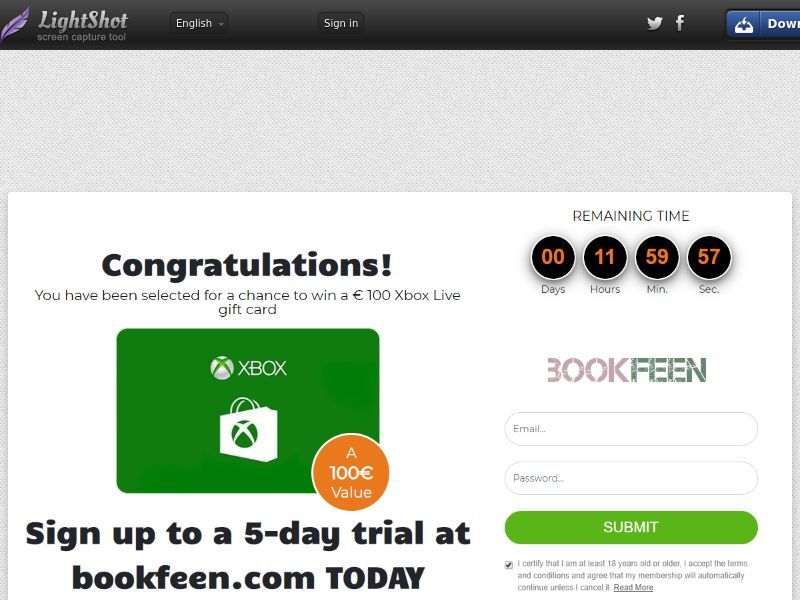 Sugar Beats Xbox Live Gift Card (Sweepstake) (CC Trial) - Netherlands [NL]