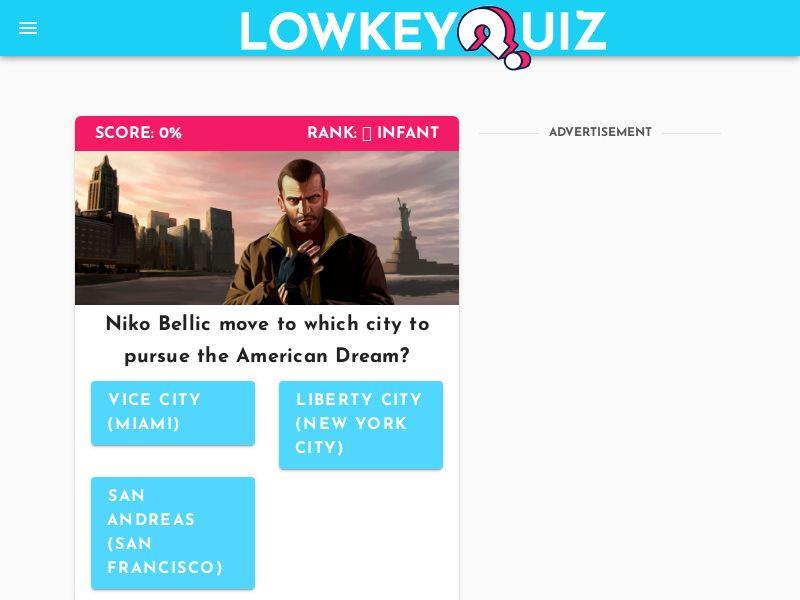 Grand Theft Auto Quiz (iOS)