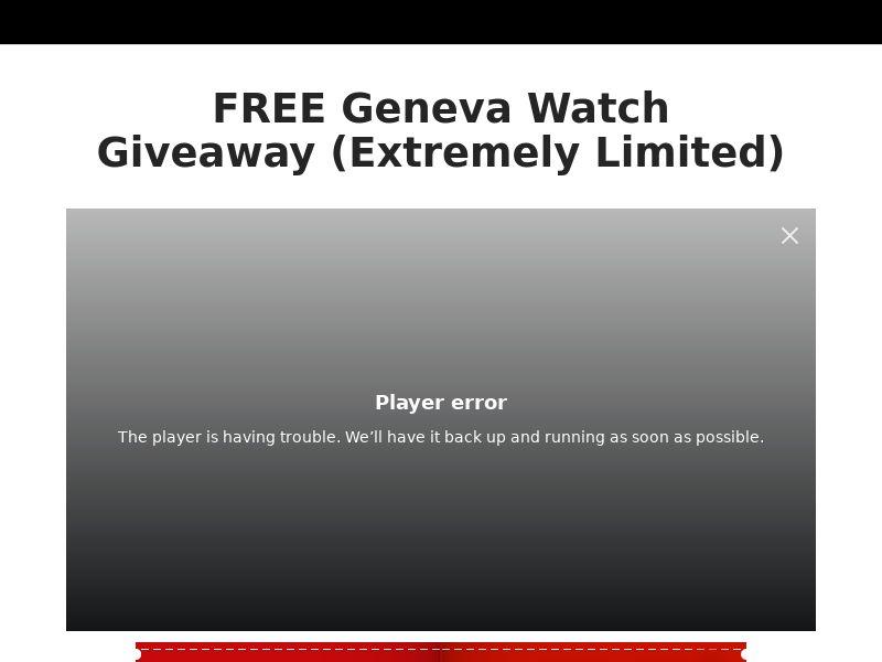 Geneva Watch (Trial) (US) (Survey Allowed) (SMS Allowed)