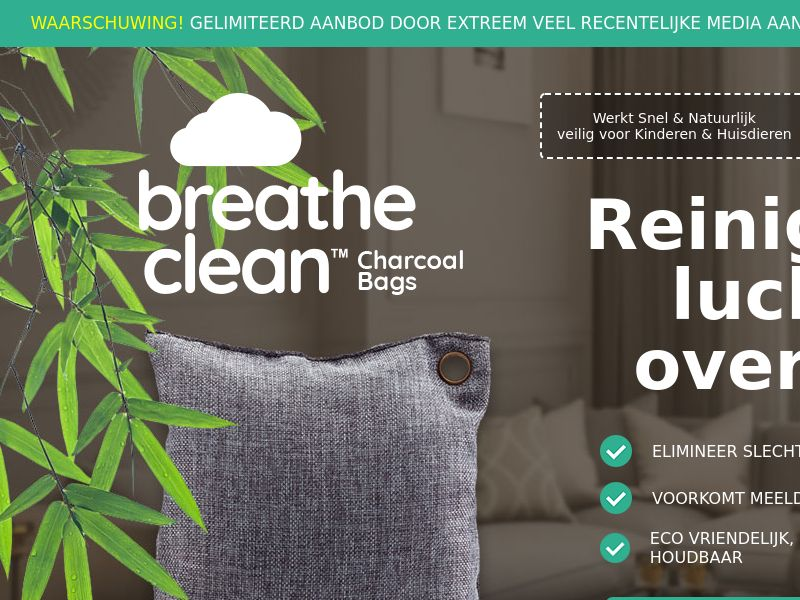 Breathe Clean Charcoal Bags LP01 (DUTCH)