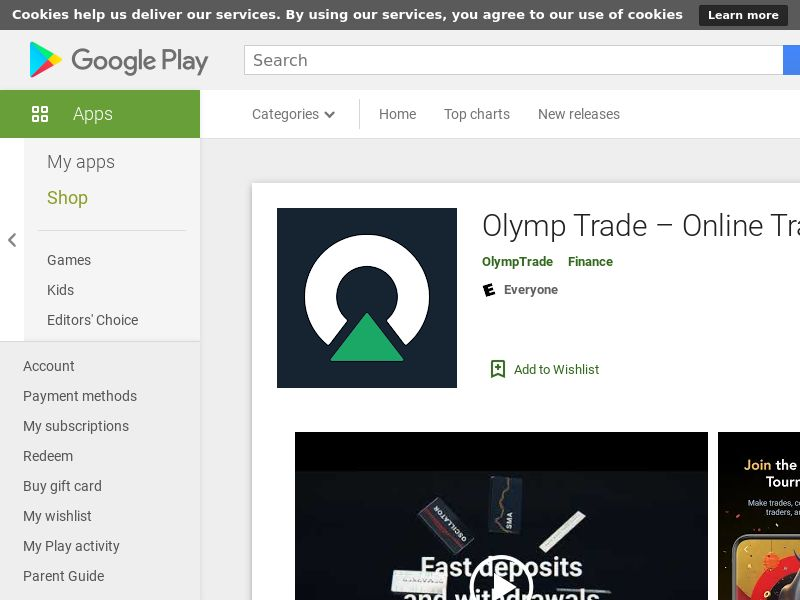 OlympTrade [Android] ID *CPA*