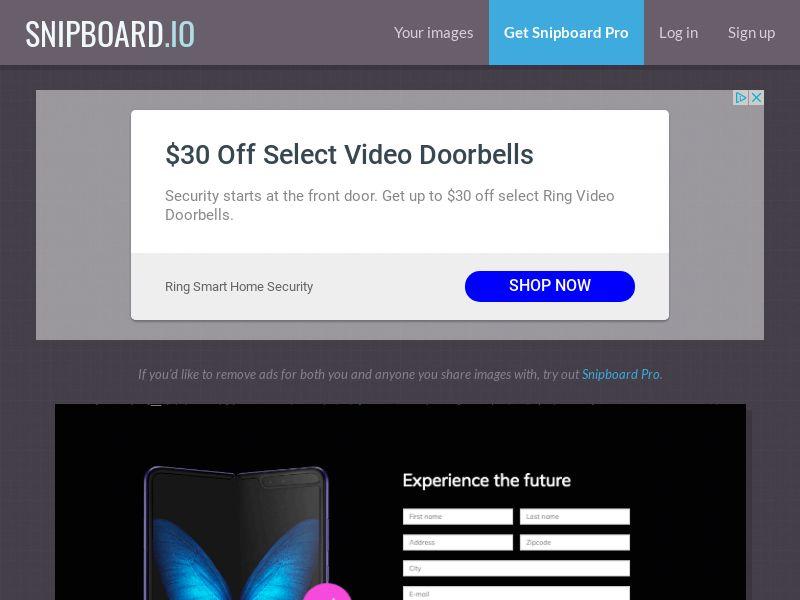 BigEntry - Samsung Galaxy Fold AU - CC Submit