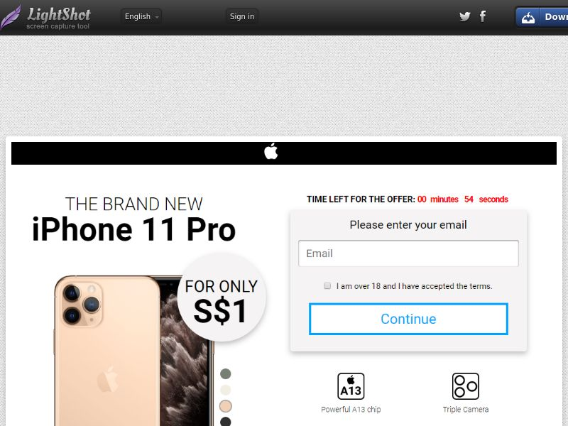GetRealDeal iPhone 11 Pro White (Sweepstake) (CC Trial) - Singapore [SG]