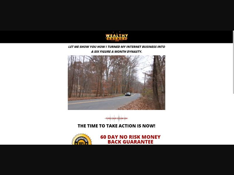 Wealthy Agency - $37 CTC - VSL - Biz Opp - SS - [US, CA, UK, AU, NZ]