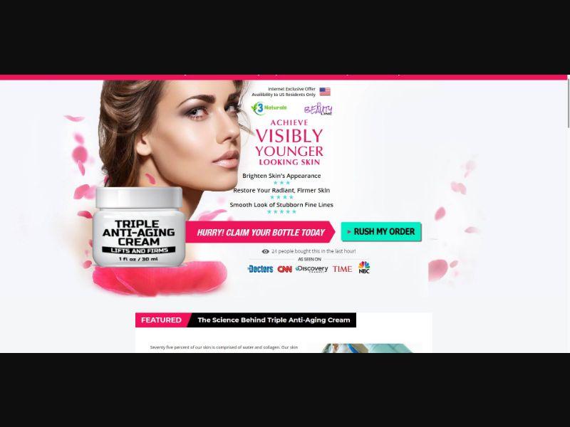 3 Naturals Triple Anti Aging Cream - Skin Care - SS - [US]