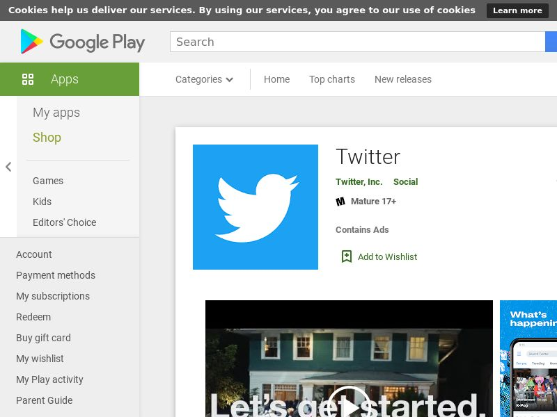 Twitter Android Japan - App Id Required
