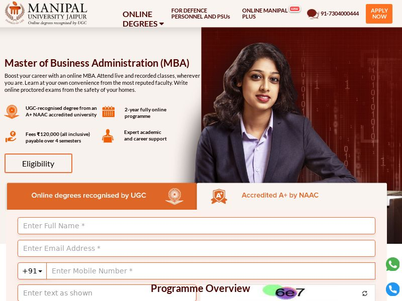 OnlineManipal.com MBA CPL - India